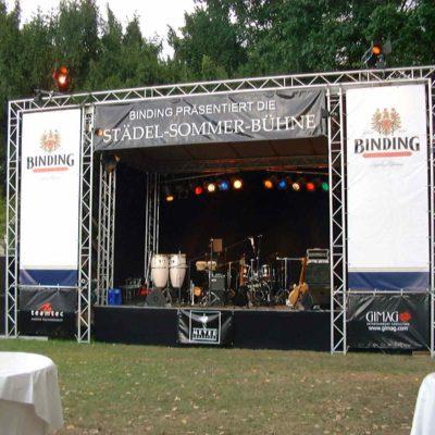 Open Air Bühne Eventtechnik Konzert Sommerbühne