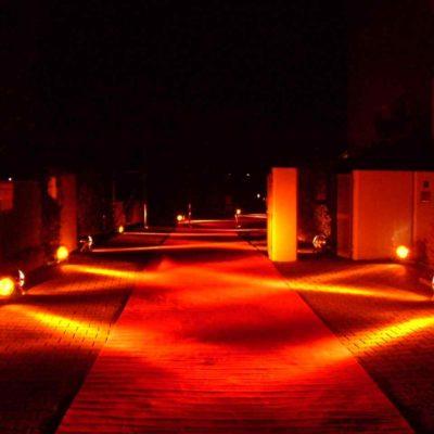 Außenbeleuchtung Scheinwerfer LED Veranstaltung Eventtechnik