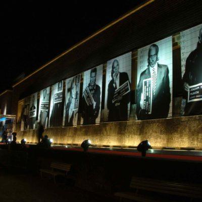Aussenbeleuchtung Fassade Galerie Kunst Scheinwerfer Gala
