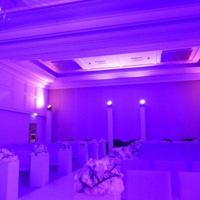 Lichtaufbau Hochzeit